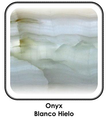 Onyx blanc glace
